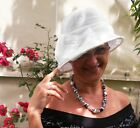 Damenhut eleganter Glockenhut in Weiß Anlasshut Hochzeit Anlasshüte Ascot