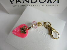 CHARM BRACELET CLASP OPENER TOOL WITH CHARM GOLD PINK SNAKE CHARM