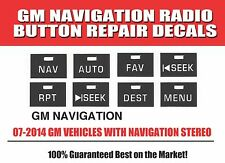 2007-2010 GM Chevrolet NAVIGATION RADIO STEREO Button Decal Sticker Repair Set