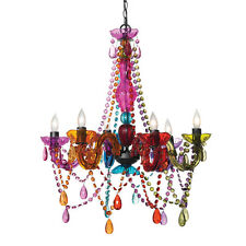 Three Cheers For Girls! 3C4G 6 Light Chandelier Lamp Multi Color