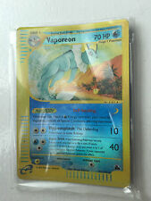 RARE VAPOREON REVERSE HOLO 33/144 E Expedition Set. Pokemon Card. Shiny. RARE