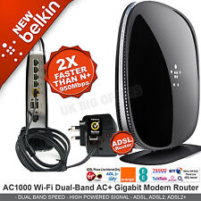 Belkin AC 1000 Dual-Band Gigabit ADSL Modem Wireless Router 950Mbps F9J1104uk