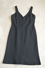 Jeanne Lanvin Black Wool / Silk Lined LBD Dress Womens Size ITA 42 UK 10