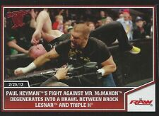 Triple H 2013 Best Of WWE Topps Trading Card #92 WWE WWF Hunter Hearst Helmsley