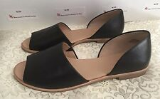 Coach and Four- Firenze 9.5 Blk Leath BALLET Flats Peeptoes-OMG-FREE SHIP!