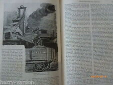 Old Antique Coal Mining Pits Mines Colliery Coalfield Illustrated Article 1889