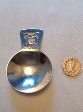 Antique George V:Solid Silver Tea caddy spoon: London 1918