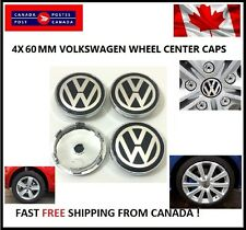 4X VW VOLKSWAGEN CENTER WHEEL CAPS  60MM PASSAT JETTA CARAVELLE TIGUAN TDI