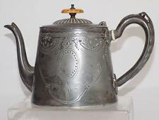 Antique Sheffield Silver Plate Teapot Marked & Owners Mark Early 20th Century