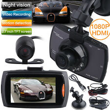 Dual Kamera  HD1080P 2.7 Dashcam Vehicle DVR  Auto Carcamera Lens Video G-Sensor