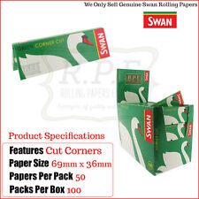 Swan Regular Green Cut Corners Cigarette Rolling Papers - 5000 Papers  Full Box