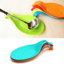New Silicone Spoon Rest Utensil Spatula Holder Kitchen Home Decor Cooking Tool