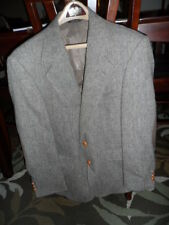 MENS PATRICK JAMES BROWN SPORT COAT BLAZER SIZE 38S 2 BUTTON LEATHER SINGLE VENT