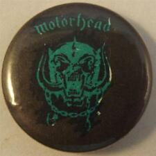 "MOTORHEAD Vtg 80`s Button Badge Pin(25mm-1"")Dark Green Plastic Insert #MOT105"