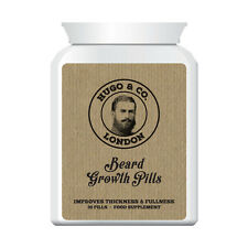 HUGO & CO LONDON BEARD GROWTH PILLS – GROW THICKER FULLER BEARD LONGER HAIR