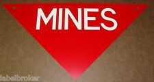 ORIGINAL METAL SIGN 1970S SURPLUS MINEFIELD WARNING NOS ARMY WARNING MARKER