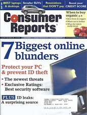Consumer Reports Magazine September 2008 Laptops Desktop Computers SUV's