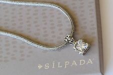 Silpada Thick Omega Necklace N0603 & Uptown CZ Sterling Silver Pendant S0979 SET