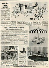 1968 ADVERT Molla Outdoor Furiture Solaria Group Troy Ames Aire Casual