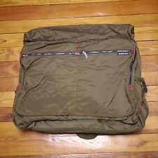 Vintage MEMBERS ONLY Brown Nylon Garment Bag Carry On Luggage w/ Multi Pockets