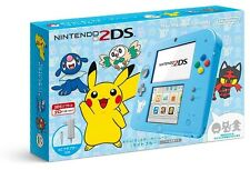 New Nintendo 2DS Console Pokemon Sun & Moon Light Blue Japanese  F/S w/Tracking#