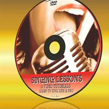 SINGING LESSONS PC-DVD 5+HRs OF EASY 2 FOLLOW PRACTICAL VIDEO INSTRUCTION NEW