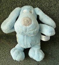 Next Blue Patch Puppy Dog - Plush Cuddly Baby Comforter / Soft Toy approx 19cms