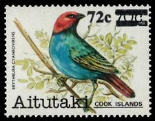 "AITUTAKI 306 (SG459) - Birds Provisional ""Red-headed Parrot Finch"" (pa38980)"