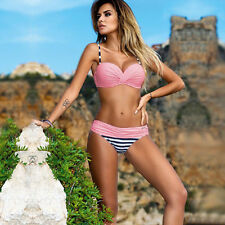 Women Bandage Bikini Set Push-up Padded Bandeau Swimsuit Bathing Suit Swimwear