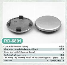 4x Außen 68,0mm Innen 55,5mm Nabenkappen Felgendeckel Radnabendeckel Grau NoLogo