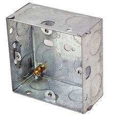 16mm Single Metal Flush Mounted Back Box - 1 Gang Brick Wall Hole Pattress