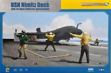 Skunkmodels 1/48 USN Carrier Deck with Jet Blast Defector 4 figures #SW-48020