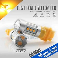 4X 3157 900LM 50W High Power LED Projector Amber/Yell​ow Turn Signal Light Bulbs