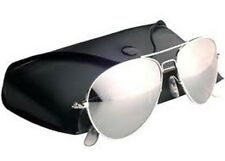 Pilot Sunglasses CHROME Silver Mirror Lenses Aviators style
