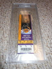 SHAQUILLE O'NEAL IP AUTO SIGNED 2001 NBA FINALS TICKET L.A. LAKERS SHAQ PSA/DNA