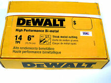 New 100 Ps Dewalt 14 Tpi Bi-metal Sawzall Reciprocating Saw Blades-Free Shipping