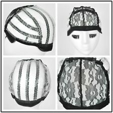 Glueless Full Lace Wig Caps Weaving Cap Wig Making Stretch Net Cap with straps