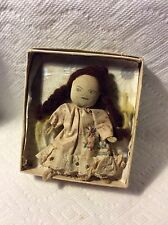 ANTIQUE CLOTH RAG FABRIC MINI DOLL..HANDMADE DRESS