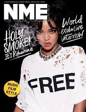 R8 RIHANNA Photo Cover interview UK NME MAGAZINE SEPT 2015