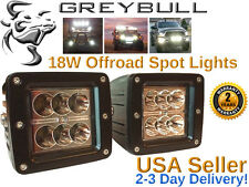 Greybull Gear 18W LED Spot Light pair - offroad driving dually cube work lights