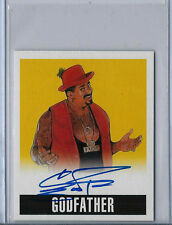The Godfather 2014 Leaf Originals Wrestling Autograph Auto Card Wwe Yellow /25