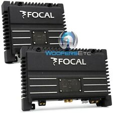 pkg FOCAL SOLID-1 + SOLID-2 = 3-CHANNEL 700 WATT AMPLIFIER PACKAGE BLACK CAR AMP