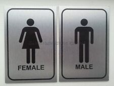 Male and Female Toilet Door Sign Plaque Ideal For Pubs, Clubs, Campsites
