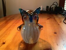 Murano Art  Glass Animal Owl