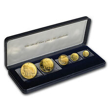 1989 Isle of Man 5-Coin Gold Norwegian Cat Proof Set - SKU #94345