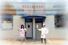 HELLS DINER COUPLE COSTUME COOK WAITRESS HALLOWEEN THEATER COSPLAY