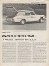 Crayford Mercedes-Benz 250 Estate W114 1972-73 UK Market Road Test Brochure