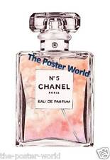 CHANEL NO 5 PERFUME WATERCOLOUR ADVERTISING PICTURE POSTER WALL ART PRINT NEW