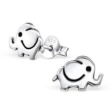 925 Sterling Silver Baby Elephant Kids Girls Women Stud Earrings Jewellery Gift