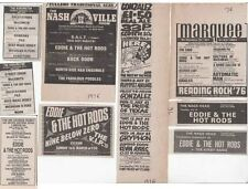 EDDIE & THE HOT RODS : 9 Small CONCERT ADVERTS -70s/80s-